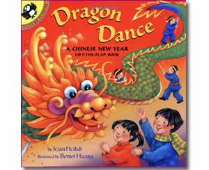 Chinese New Year Books for kids - Dragon Dance - A Chinese New Year Life-the-Flap Book