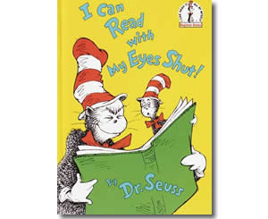 Dr. Seuss Books for kids - I Can Read With My Eyes Shut
