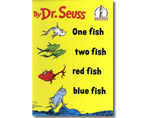 Dr. Seuss Books for kids - One Fish, Two Fish, Red Fish, Blue Fish