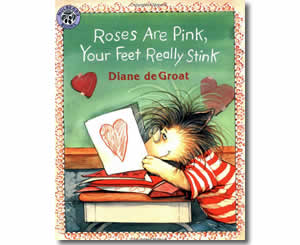 roses are pink your feet really stink valentines day books for kids