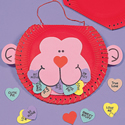 Paper Plate Monkey Valentine Craft