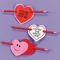 Valentine Pencil Treat Cards