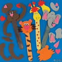 Valentine Zoo Animal Bookmarks